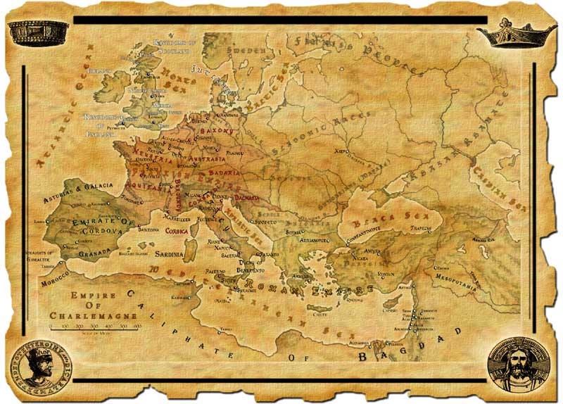 Map of the Empire of Charlemagne