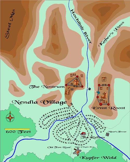 Nendia Map
